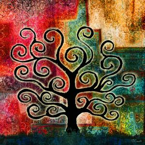Tree Of Life New Digital Mixed Media Artwork